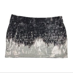 ZARA Evening Collection Ombré Sequin Mini Skirt